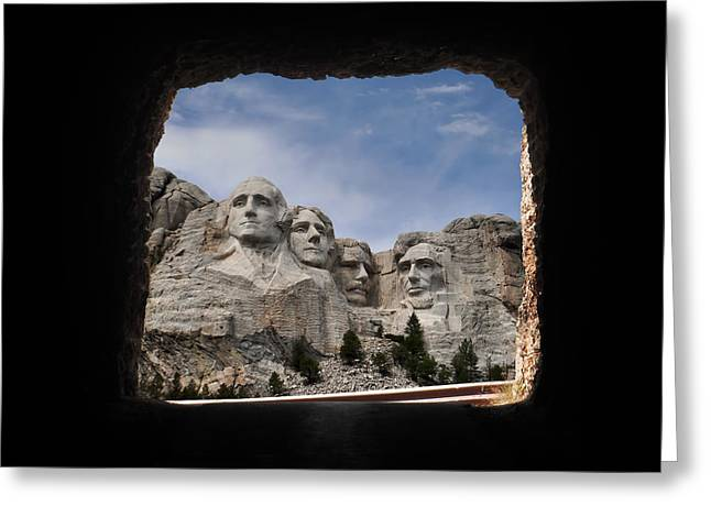 Greeting Card featuring the photograph Mt Rushmore Tunnel by David Lawson