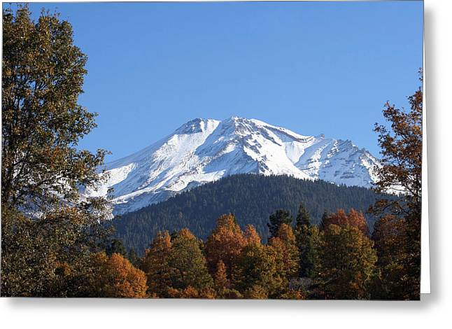 Mt. Shasta Framed Greeting Card by Holly Ethan