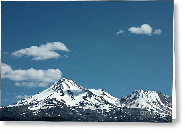 Mt Shasta With Heart-shaped Cloud Greeting Card by Carol Groenen