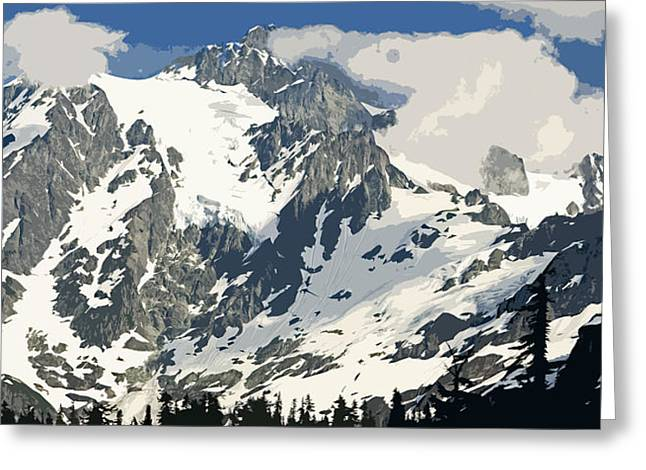 Larry Darnell Greeting Cards - Mt. Shucksan Greeting Card by Larry Darnell
