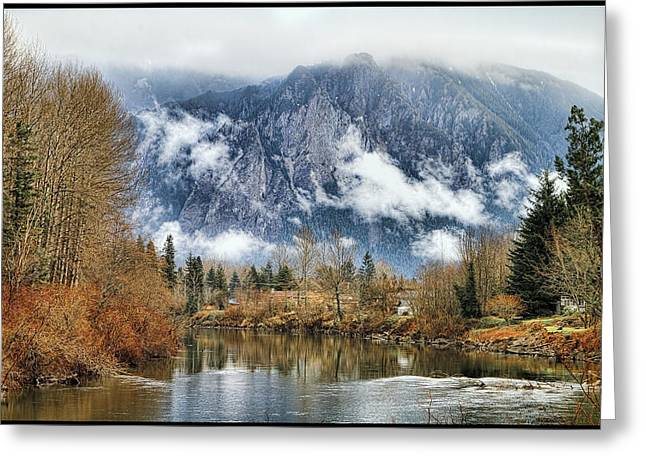 Mt Si Greeting Card by Ken Stanback