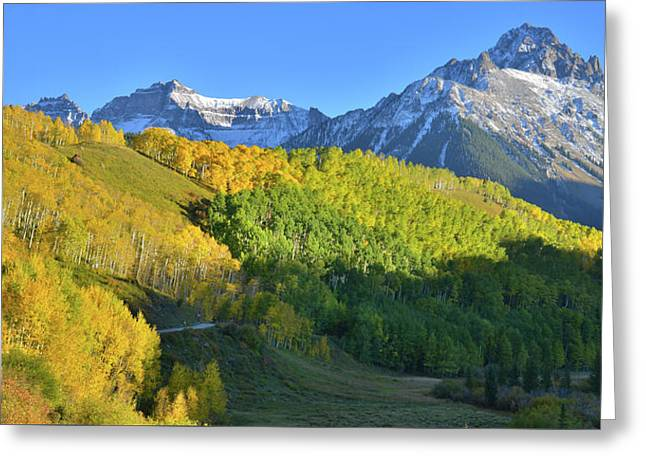 Greeting Card featuring the photograph Mt. Sneffels From County Road 7 by Ray Mathis