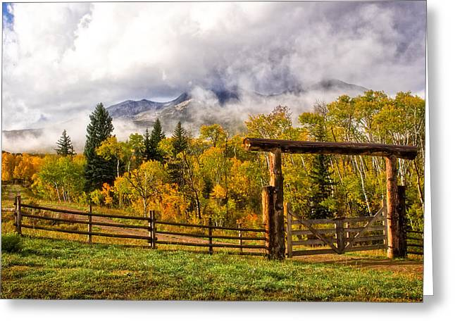 Mt Sopris Under The Clouds Greeting Card by Ronda Kimbrow