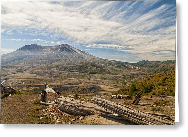 Mt St Helens Greeting Card by Brian Harig