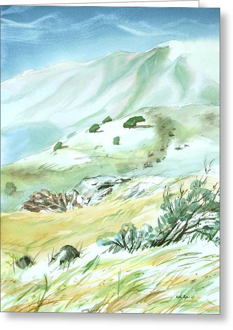 Mt. Tam From Ring Mountain Greeting Card by Kate Peper