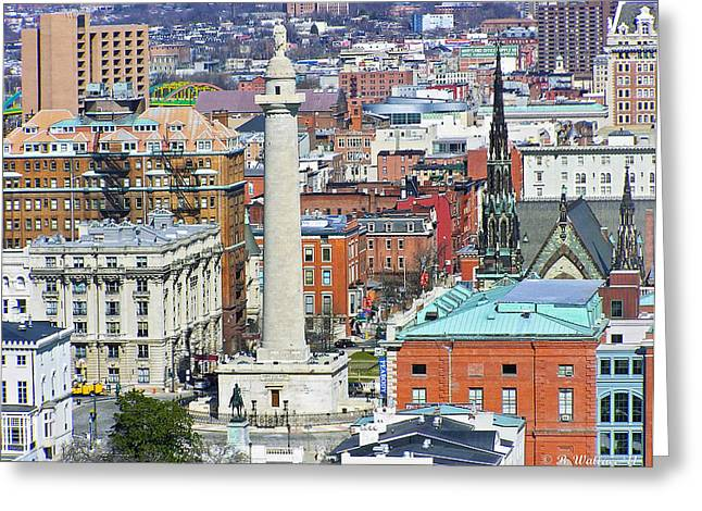 Mt Vernon - Baltimore Greeting Card by Brian Wallace