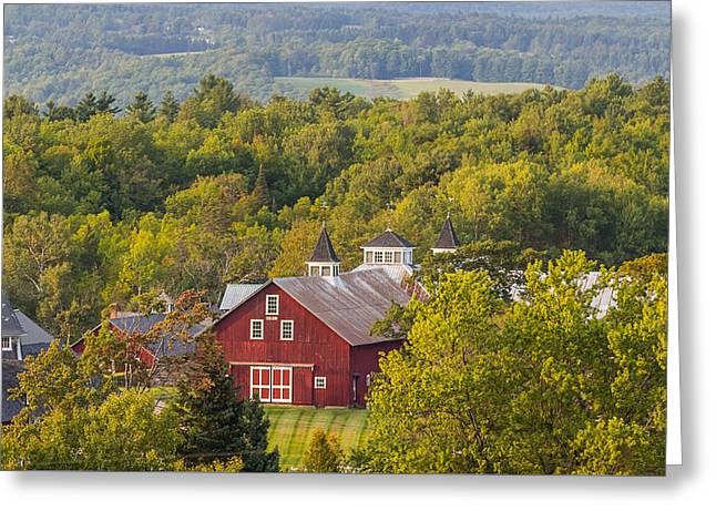 Mt View Farm In Summer Greeting Card