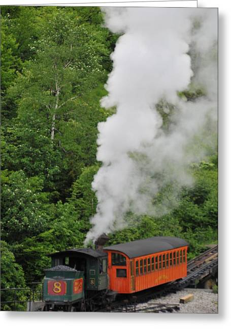 Mt Washington Cog Railroad Greeting Card