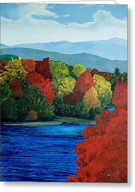 Mt Washington From The Saco River Greeting Card by Paul Gaj