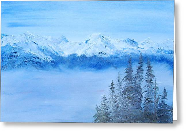 Mt. Whistler Canada  Greeting Card by Tina Haeger