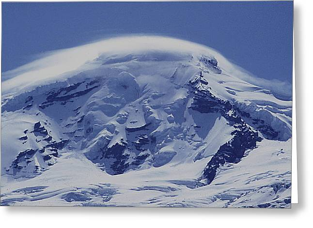 Greeting Card featuring the photograph Mt201cloudcap Over Mt. Baker Wa by Ed Cooper Photography