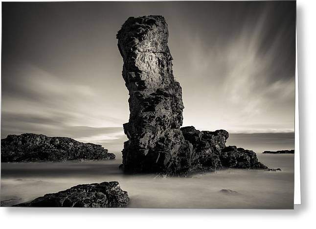 Muchalls Stack Greeting Card by Dave Bowman