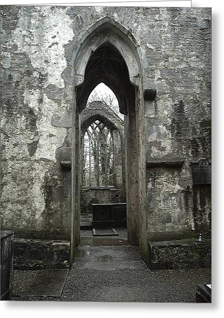 Muckross Abbey Greeting Card by William Thomas