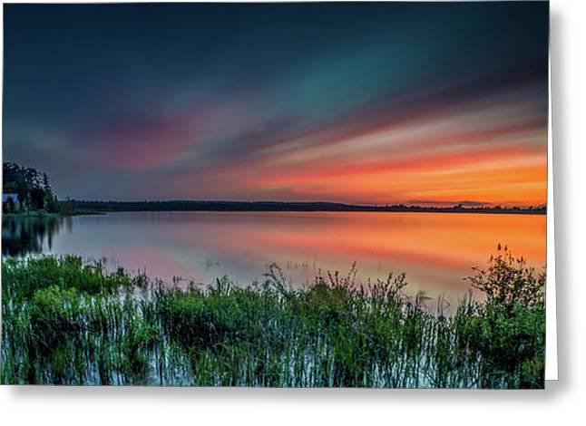 Mud Bay Sunset 4 Greeting Card
