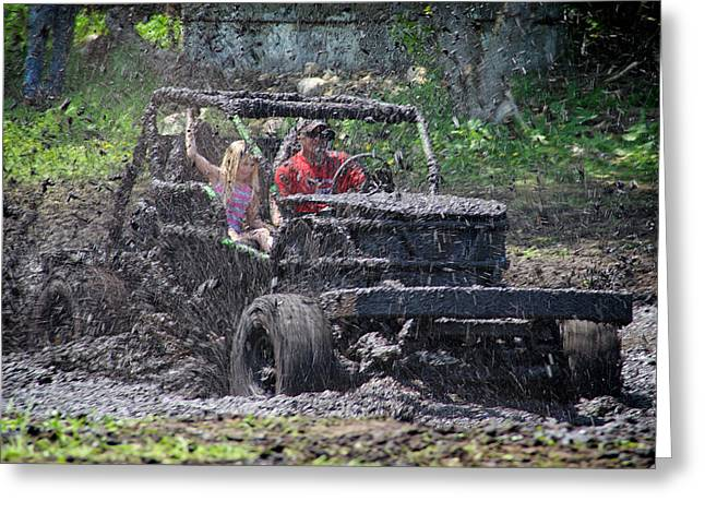 Greeting Card featuring the photograph Mud Bogging by Mary Lee Dereske