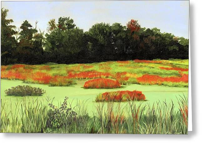 Mud Lake Marsh Greeting Card