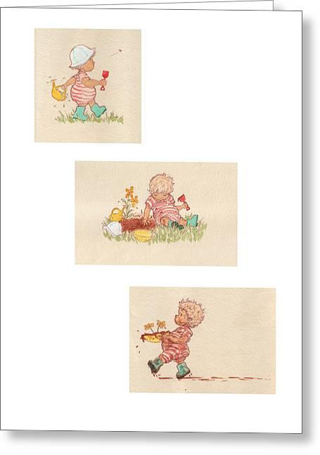 Mud Pies Greeting Card by Kathryn Wilson