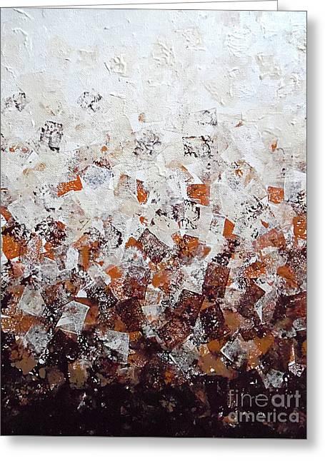 Muddy Bricks Greeting Card by Jilian Cramb - AMothersFineArt