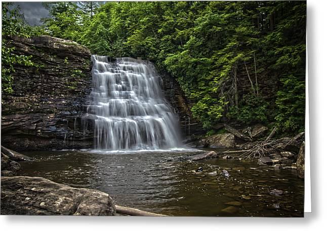 Muddy Creek Falls Greeting Card