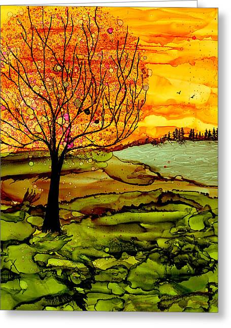 Muddy Fall Greeting Card