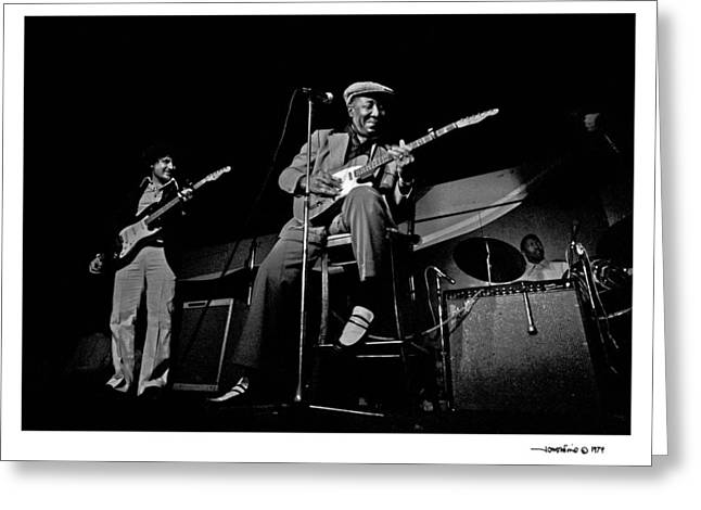 Guitarist Photographs Greeting Cards - Muddy Waters 1 Greeting Card by Jonathan Fine