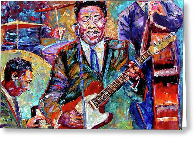 Muddy Waters And His Band Greeting Card by Debra Hurd
