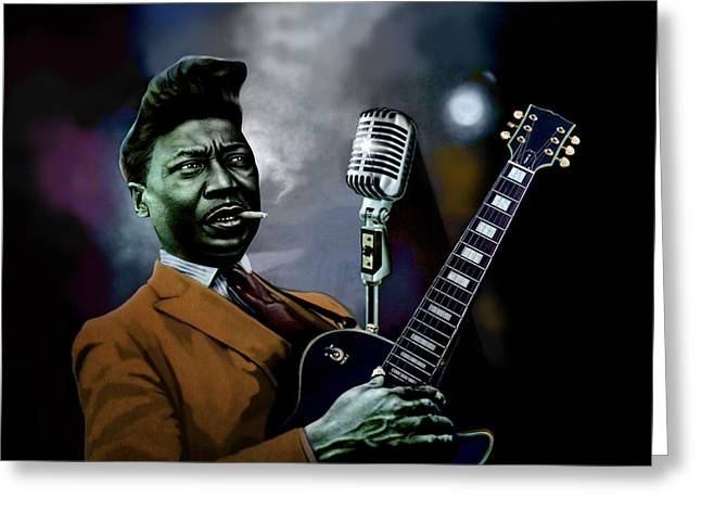 Muddy Waters - Mick Jagger's Grandfather Greeting Card