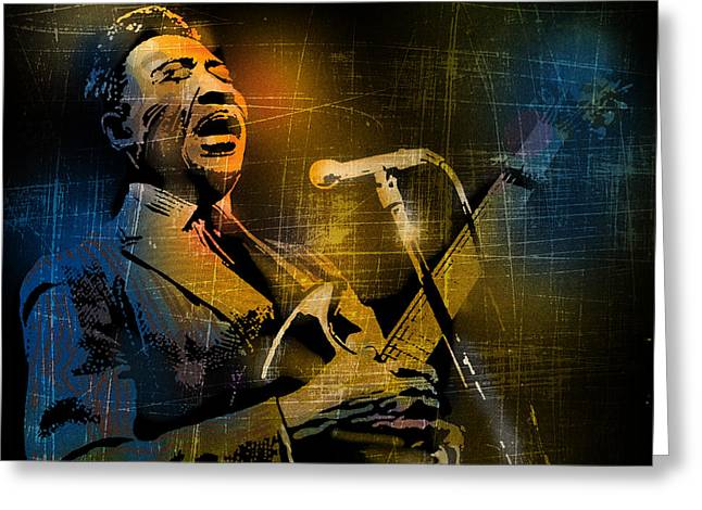 African-american Paintings Greeting Cards - Muddy Waters Greeting Card by Paul Sachtleben