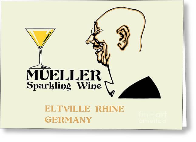 Mueller Sparkling Wine Greeting Card