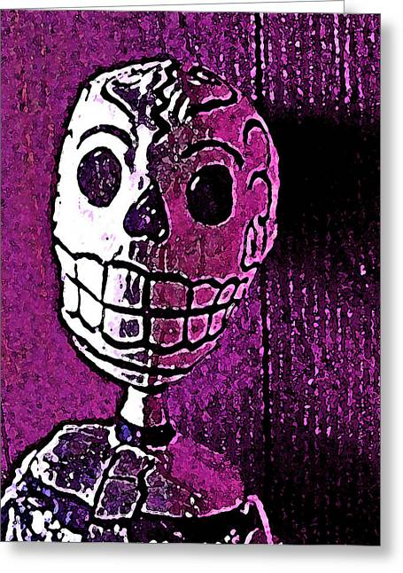 Muertos 3 Greeting Card by Pamela Cooper