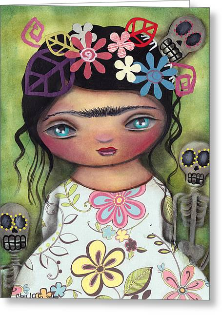 Muertos Fest Greeting Card by  Abril Andrade Griffith