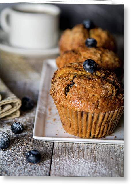Muffins And Coffee Greeting Card by Deborah Klubertanz