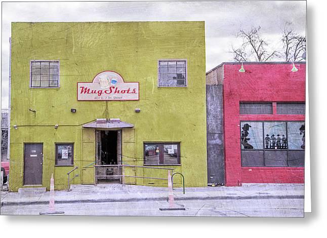Mug Shots Austin Texas Greeting Card