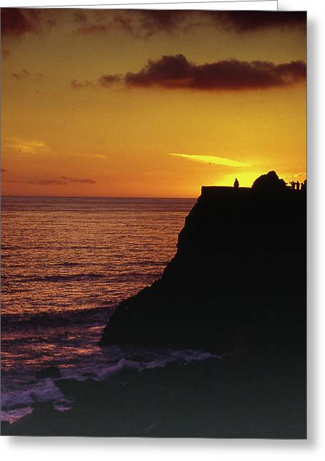 Greeting Card featuring the photograph Mugu Rock Sunset by Samuel M Purvis III