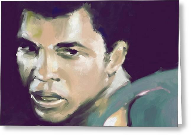Muhammad Ali 551 2 Greeting Card by Mawra Tahreem