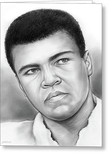 Muhammad Ali Greeting Card by Greg Joens