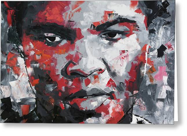 Muhammad Ali II Greeting Card by Richard Day