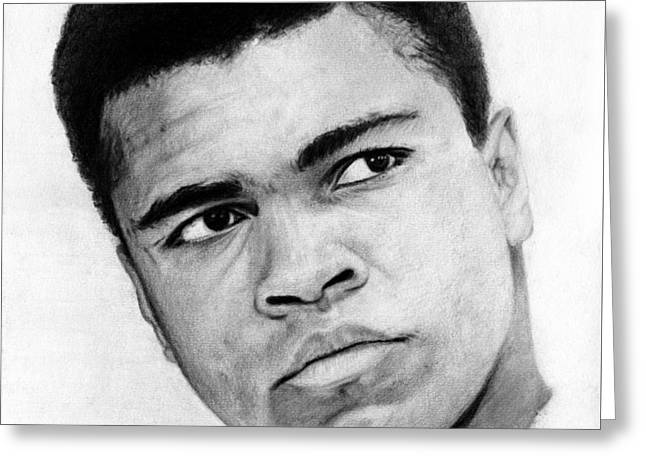 Muhammad Ali Pencil Drawing Greeting Card