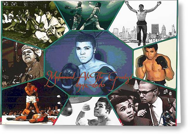 Muhammad Ali The Greatest  Greeting Card