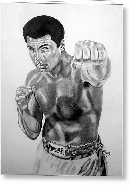 Muhammad Ali Greeting Card by Van Beard