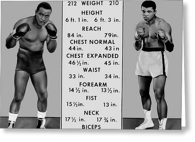 Muhammad Ali Vs Sonny Liston - Tale Of The Tape 1964 Greeting Card