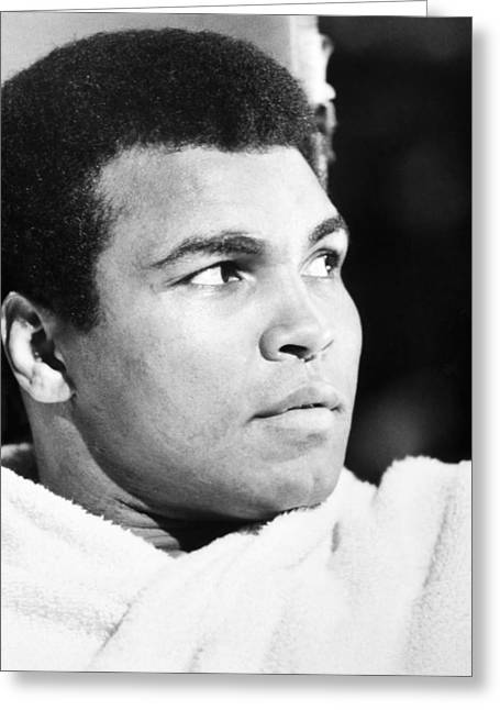 Mohammed Ali Greeting Cards - MUHAMMED ALI (b. 1942) Greeting Card by Granger