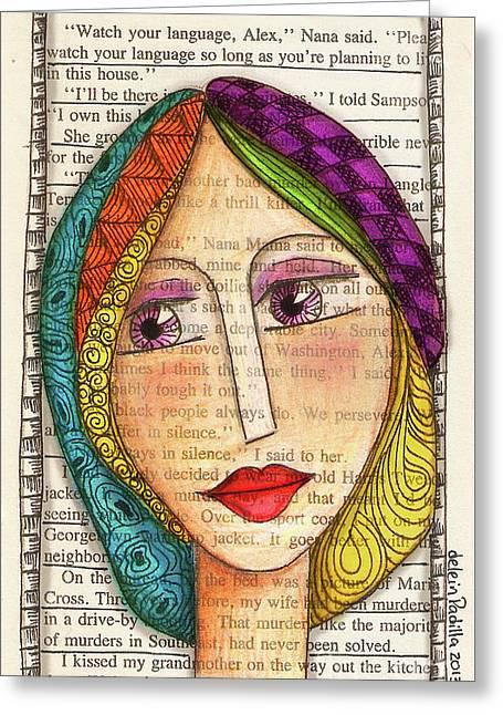 Mujer Greeting Card by Delein Padilla