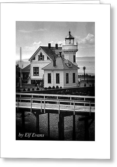 Greeting Card featuring the photograph Mukilteo Lighthouse by Elf Evans