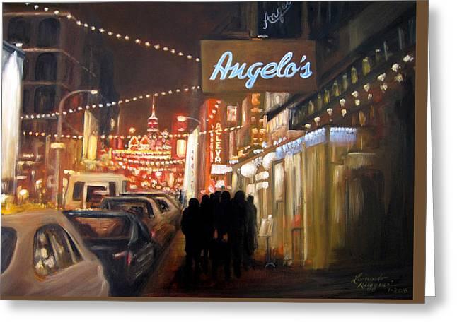 Mulberry St. Nyc Greeting Card by Leonardo Ruggieri