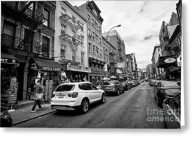 mulberry street little italy New York City USA Greeting Card