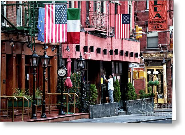 Greeting Card featuring the photograph Mulberry Street Pride by John Rizzuto