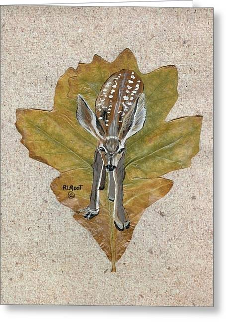 Mule Dear Fawn Greeting Card