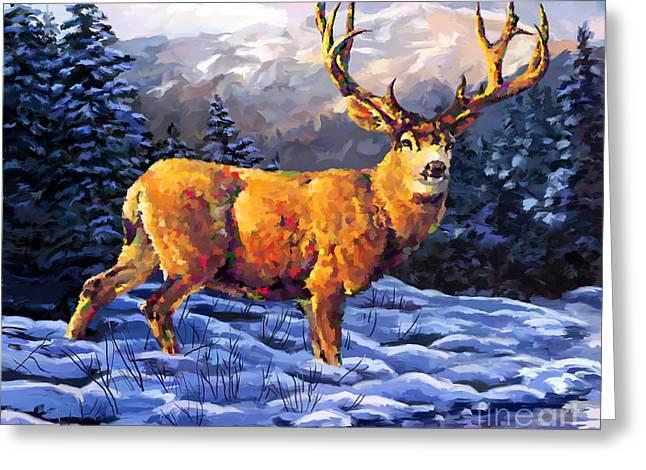 Mule Deer 2 Greeting Card by Tim Gilliland