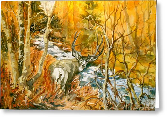 Mule Deer Bishop Creek Greeting Card